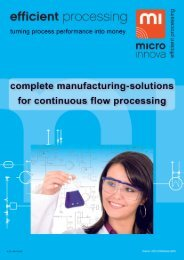 Manufacturing solutions - Microinnova Engineering GmbH