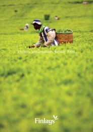Finlays Sustainability Report 2009
