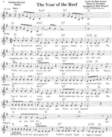 IYOR song lead sheet