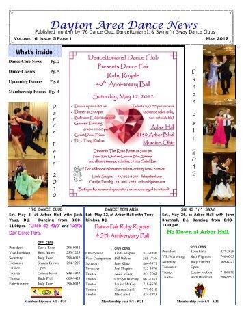 16 05 May 2012 Newsletter - Ballroom Dance Dayton