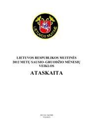 Parsisiųsti 2012 m. veiklos ataskaitą. - Lietuvos Respublikos muitinė