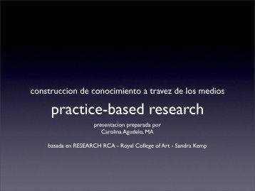 practice-based research - designblog