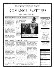 ROMANCE MATTERS - Randolph-Macon College