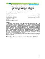 Esforço Inovador Presente em Empresas de Base Tecnológica de ...