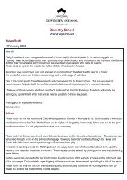 Oswestry School Prep Department Newsflash