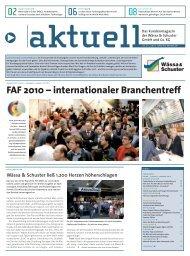 FAF 2010 – internationaler Branchentreff - Wässa & Schuster