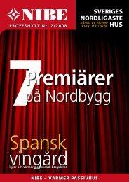 Proffsnytt nr 2/2008 - Nibe