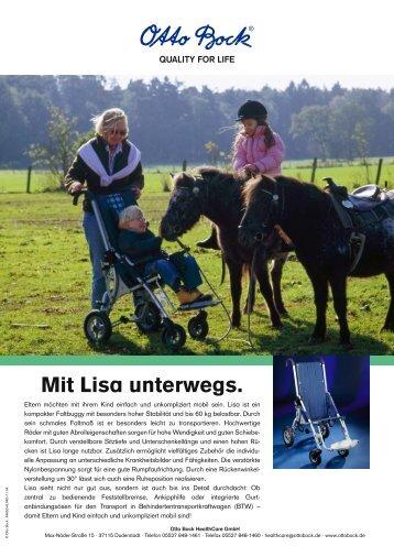 Mit Lisa unterwegs. - H S C Mobility Ltd