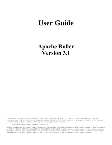 ibatis 3 welcome the apache software foundation rh yumpu com apache user manual apache user manual