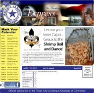 August 2013 - Texas City-La Marque Chamber of Commerce