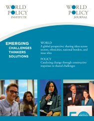 EMERGING - World Policy Institute