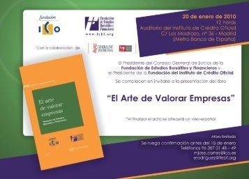 """Díptico invitación presentación """"El arte de valorar ... - Fundación ICO"""