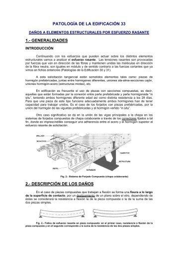 Daños a elementos estructurales por esfuerzo rasante - ConcretOnline