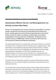 Pressemitteilung Airtricity Hafen Roemoe - wab.biz