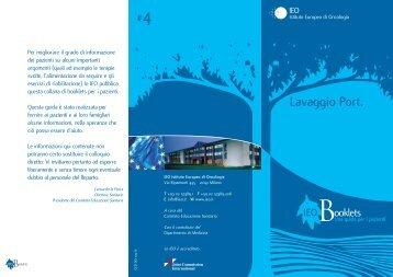 Lavaggio Port. - Istituto Europeo di Oncologia