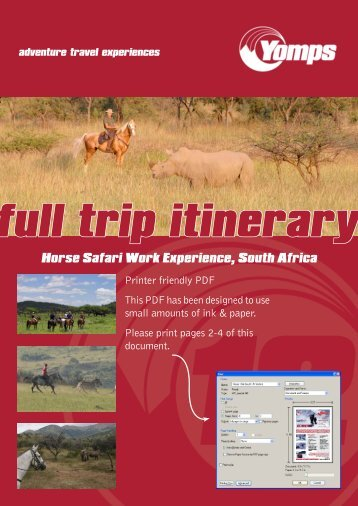 Horse Safari Work Experience, South Africa - GoAbroad.com