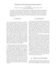Design for a Room Temperature Superconductor - W2agz.com