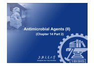 Antimicrobial Agents (II) - CC