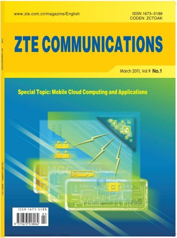 Special Topic: Mobile Cloud Computing and Applications - ZTE