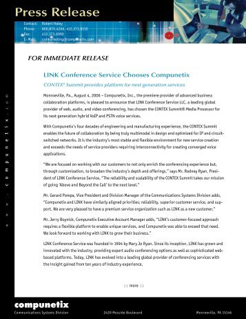 Press Release - Compunetix
