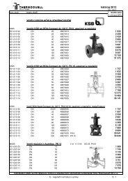 E - regulační armatury a prvky (PDF) - Thermoquell CZ