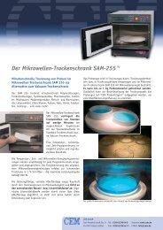 Mikrowellentrockenschrank als zeitliche Alternative zum ... - LABO.de