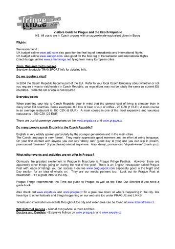 2011 visitor guide to the city-2 - Prague Fringe Festival