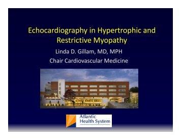 Echocardiography for HCM/RCM