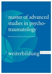 weiterbildung master of advanced studies in psycho - Klinik für ...