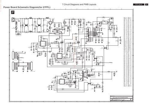 power schematic diagram(for 47pfl) board 7 circuit diagrams and