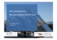 SPF- Industrietag 2013 - Institut für Solartechnik
