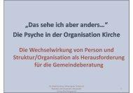 Die Wechselwirkung von Person und Struktur/Organisation als ...