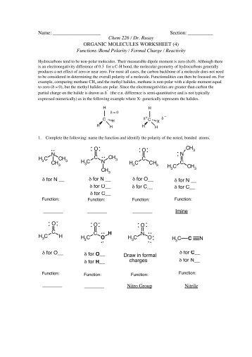 Biological Molecules  1 Molecules of Living Organisms We have
