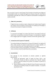 bases de la convocatoria (.pdf) - OTRI - Universidad de Sevilla