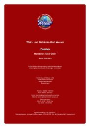 Preisliste für Hersteller: Glen Grant - und Getränke-Welt Weiser