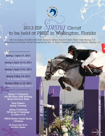 2013 - Equestrian Sport Productions, LLC