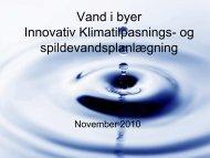 Innovativ klimatilpasnings- og spildevandsplanlægning - Vand i Byer