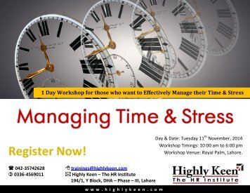 Managing Time & Stress