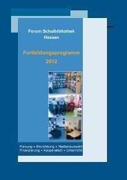 Forum Schulbibliothek - IMeNS - Lahn-Dill-Kreis