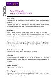 Research Dissertation Level 3 - 40 credits (FHEQ Level 6)