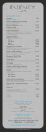 to download our complete menu - Infinity Cafe
