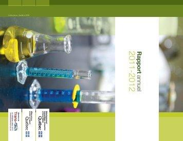 Rapport annuel - Centre de Transfert Technologique en Écologie ...