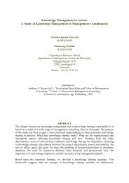 Knowledge Management in Action: A Study of Knowledge ...