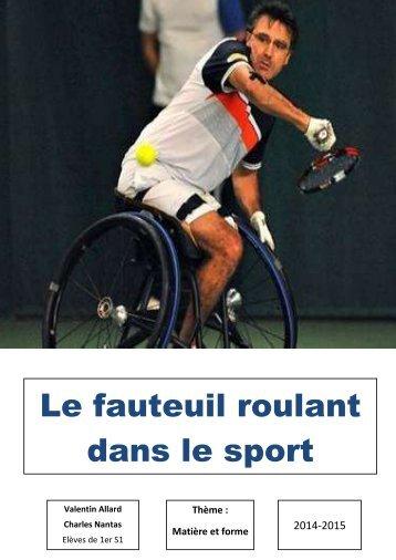 TPE : Le fauteuil roulant dans le sport