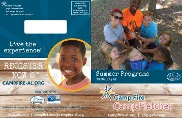 2015 Camp Fletcher Brochure and Fillable Registration