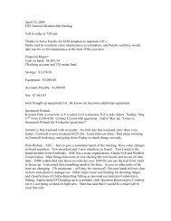 April 15, 2009 FST General Membership Meeting Call to order at 7 ...