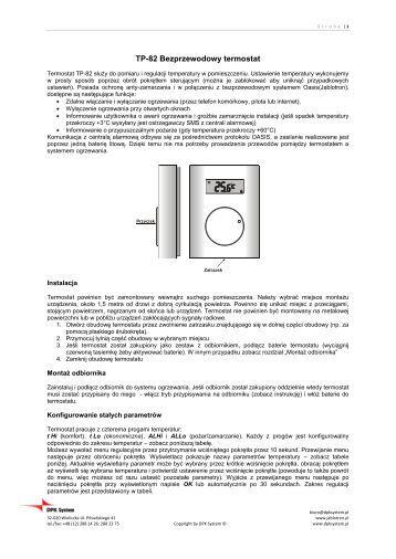 TP-82 Bezprzewodowy termostat