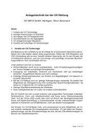Anlagentechnik bei der UV-Härtung - IST METZ GmbH