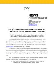 announces winners of annual cyber security awareness contest - ISC