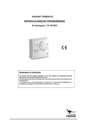 Termostat 1TX TETX03